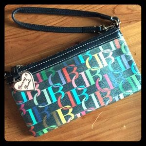 Leather rainbow Dooney & Bourke Wristlet